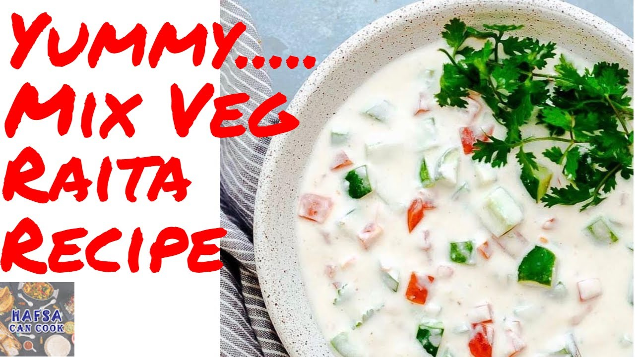 Easy to make Veggie Raita Veggie Raita Recipe