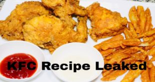KFC Style Homemade Fried Chicken With White Garlic Sauce Recipe