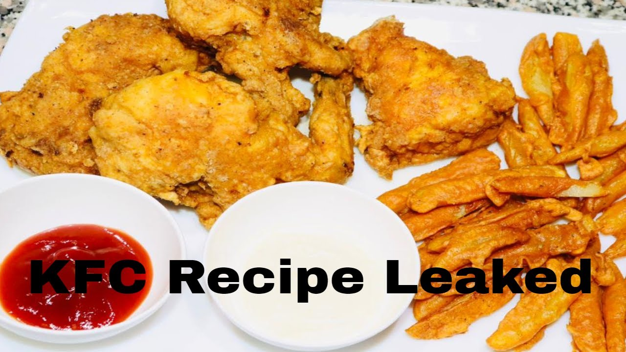 KFC Style Homemade Fried Chicken With White Garlic Sauce Recipe
