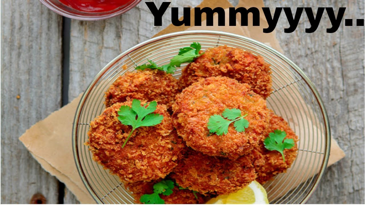 Khatarnaak Homemade Crispy Chicken Potato Cutlets Recipe