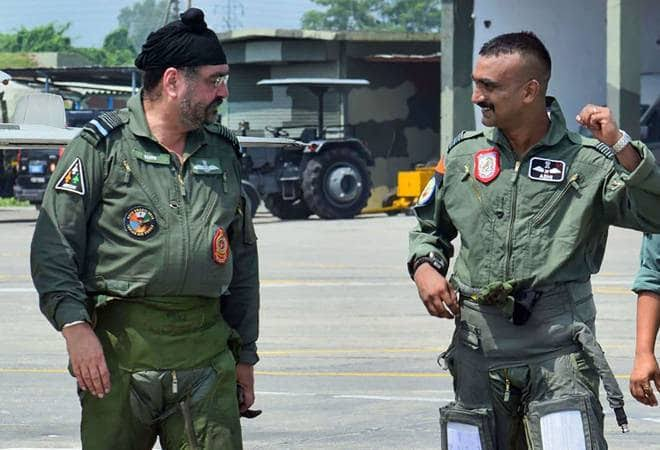 Abhinandan and Current Indian Chief Marshal