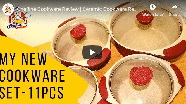 Chefline Cookware Review   Ceramic Cookware Review   11 Pcs