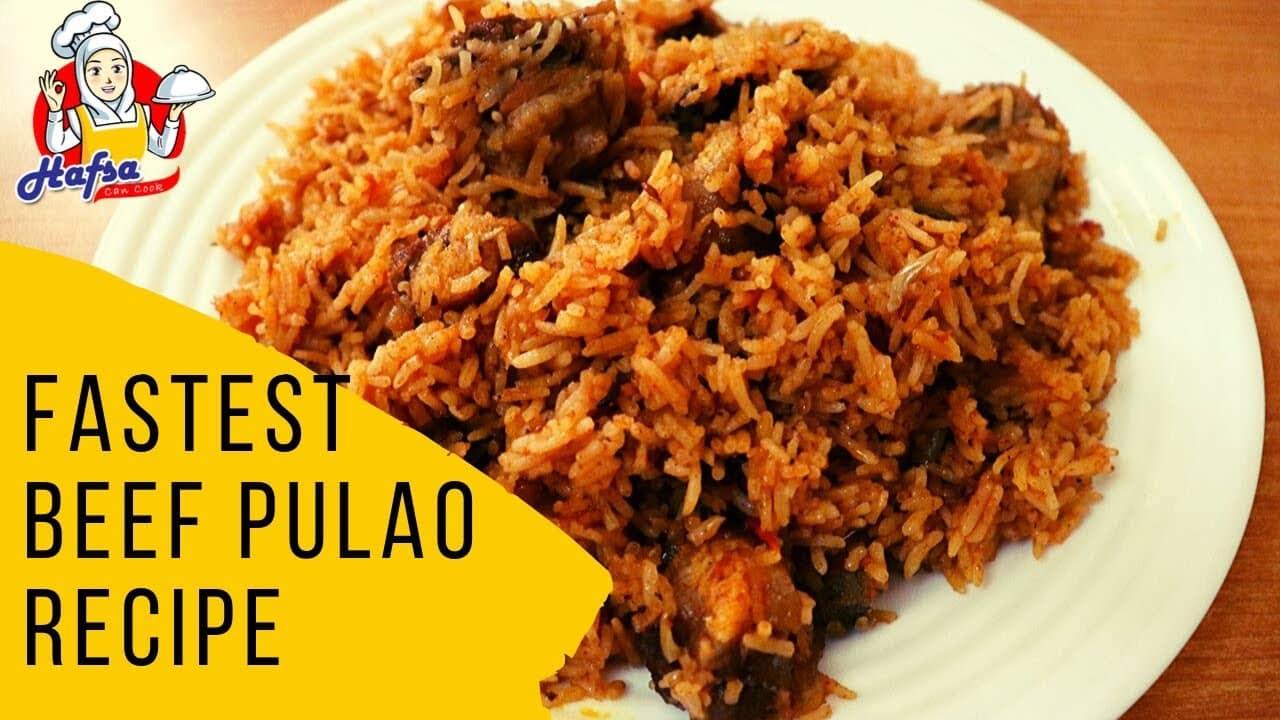 Beef Pulao Recipe Pakistani Indian | beef Pulao in pressure cooker Hindi Urdu