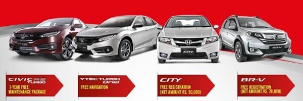 Honda Pakistan offers a massive discount