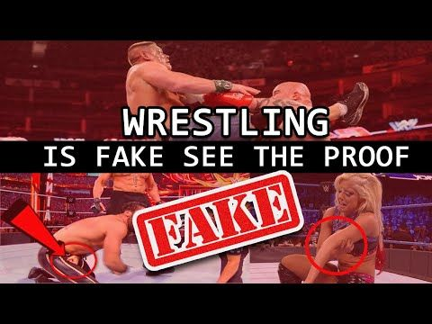Wrestling is fake see the Proof