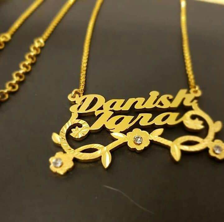 Customized Double Name Necklace
