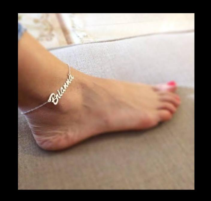 Customized Silver Single Name Anklet
