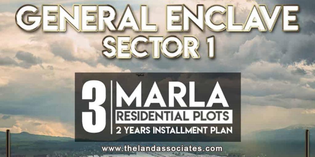 3 MARLA RESIDENTIAL PLOTS IN GENERAL ENCLAVE SECTOR 1