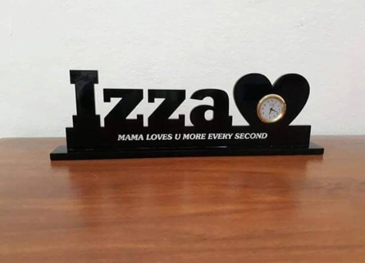 Customized Table Name Clock
