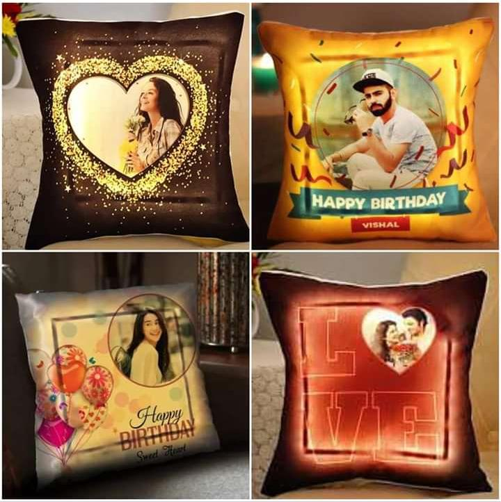 Customized LED Pillow size 18 ×18 inch