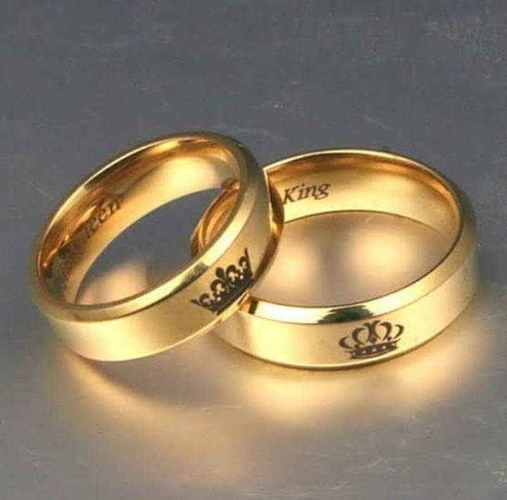 Customized Gold Plated Engraved Ring