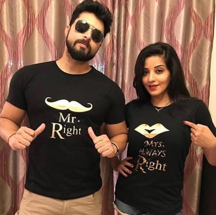 Customized Golden Name Couple Shirts