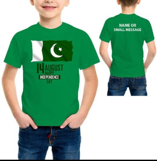 Customized 14 August Printed Child T-Shirt
