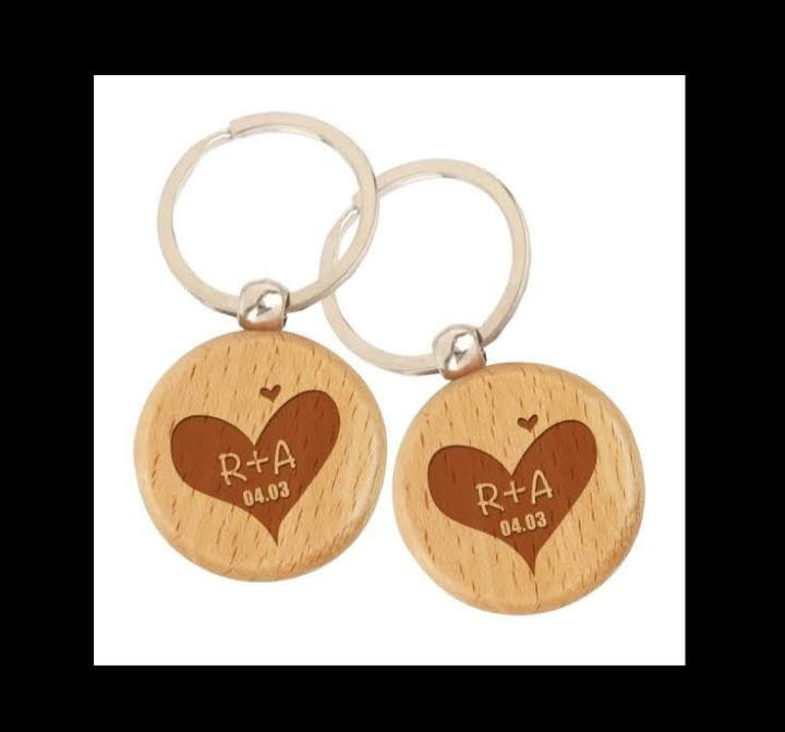 Customized Engraved Wooden Keychain