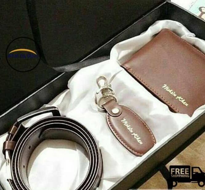 Customized Wallet,Keychain & Belt Set