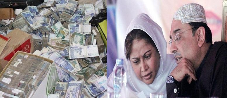 Asif Ali Zardari, implicated in the massive money-laundering case