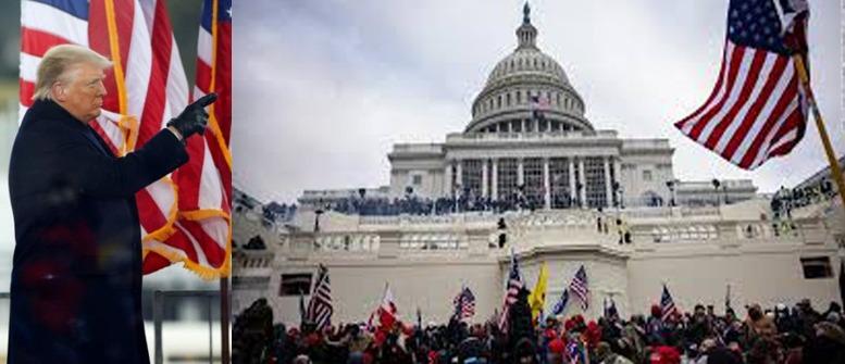 US President Donald Trump stormed Capitol Hill