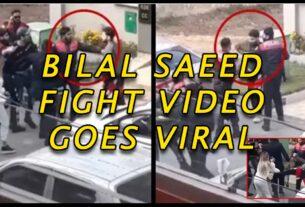 Bilal Saeed Pakistani Singer Fighting Video Goes Viral