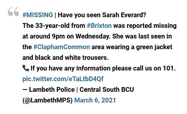 Sarah Missing